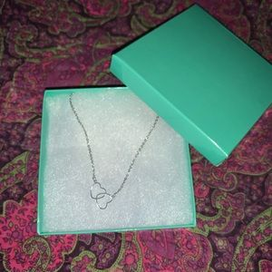 Double Heart Necklace Brand New